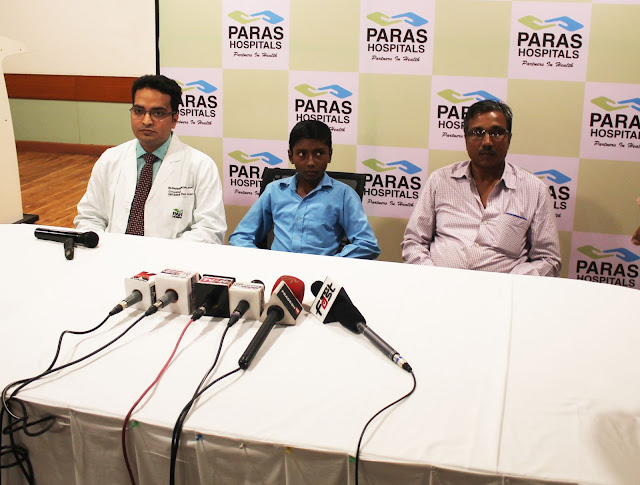 Golf-Ball Size Tumor Removed from 13-Year-Old's Nasal Cavity, at Paras Hospitals, Gurgaon