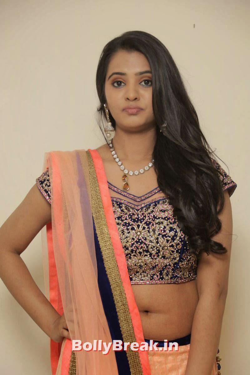 Manasa Latest Stills, Actress Manasa hot Photos in Backless Choli & Lehenga