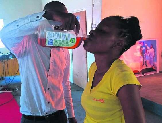 Pastor gives members dettol to drink