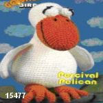 patron gratis pajaro pelicano amigurumi