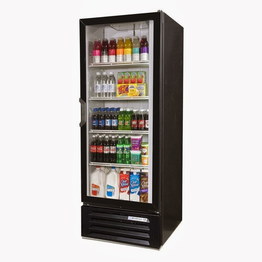 Glass Door Refrigerator Online Store Beverage