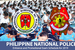 2019 NAPOLCOM PNP Extrance and Promotional Exam Schedule