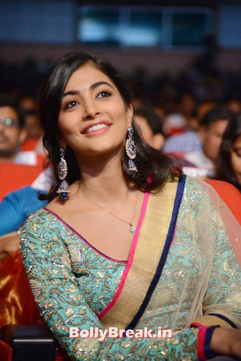 Actress Pooja Hegde Pics, hot Pics of Pooja Hegde from Mukunda Movie Audi Launch