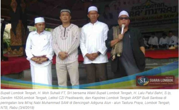 Melalui Peringatan Isra Mi'raj 2019, H. Moh Suhaili Sampaikan Pesan Pemilu Aman, Damai dan Sejuk