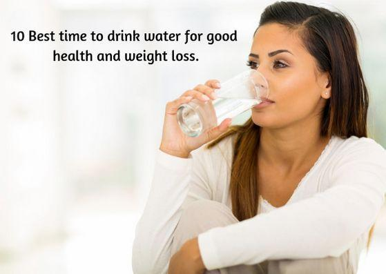 Best time to drink water.