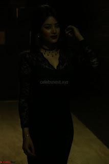 Actress Monica in spicy transparent Black Top at O Pilla Nee Valla Movie Audio Launch Feb 2017 092.JPG