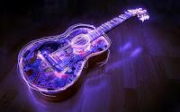 guitarra contorno luz