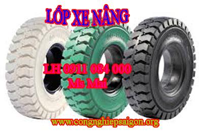 Vỏ xe nâng, lốp xe nâng nhập khẩu _ giá siêu rẻ