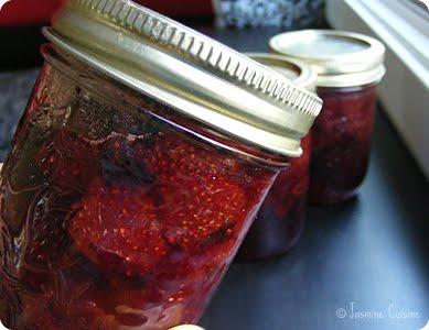 confiture de fraise pot masson