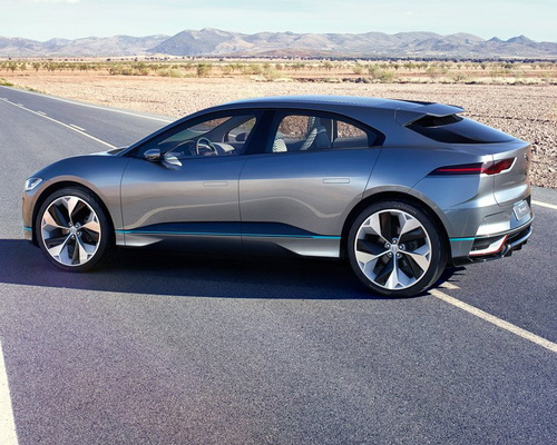 www.Tinuku.com Jaguar I-Pace SUV electric-powered ready on 2018, news from Los Angeles Auto Show 2016