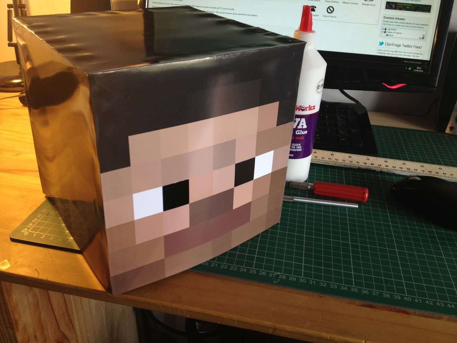 Minecraft Seeds  How to Make Steve Head at Home
