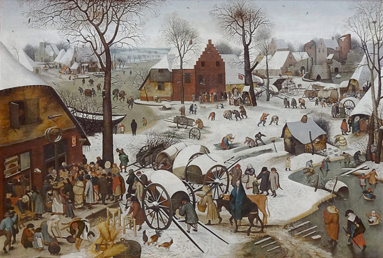 Pieter Brueghel the Elder - The Census at Bethlehem, 1566