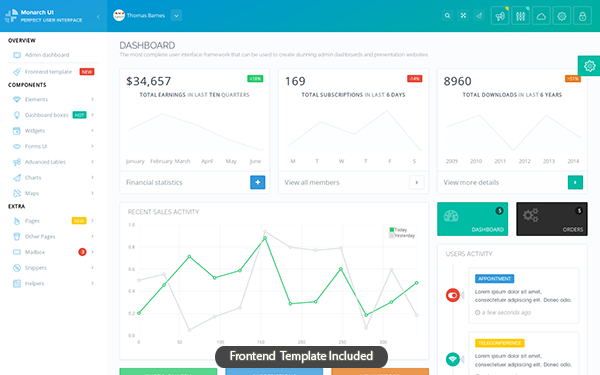 15+ free bootstrap admin & dashboard templates download 2019.