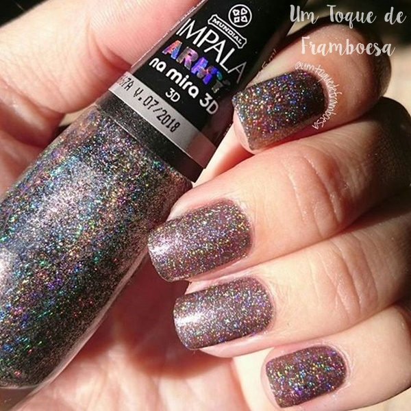 swatches do esmalte Impala Army Na Mira 3D