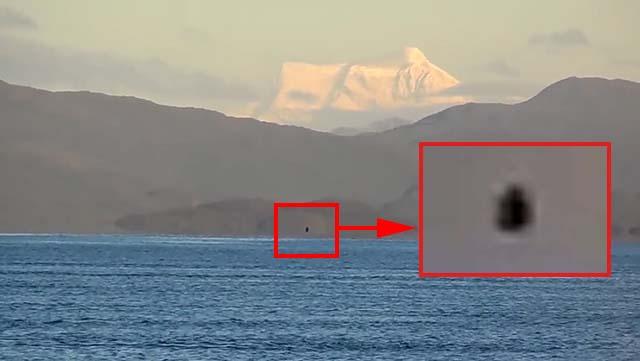 OVNIS negros son captados flotando sobre el Lago General Carrera, Chile