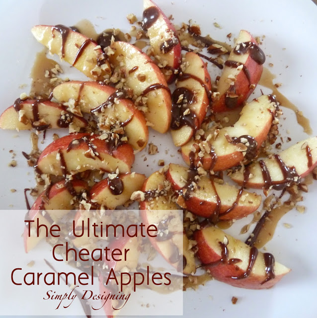Cheater+Caramel+Apples 27 Amazing Apple and Pumpkin Recipes for Fall 57