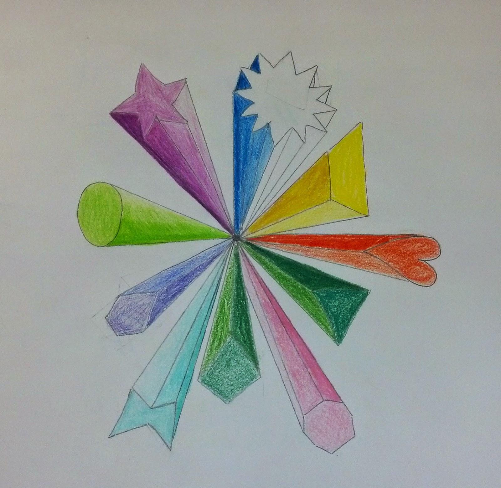 Miss Gushard S Art Blog 3d Shape Explosions
