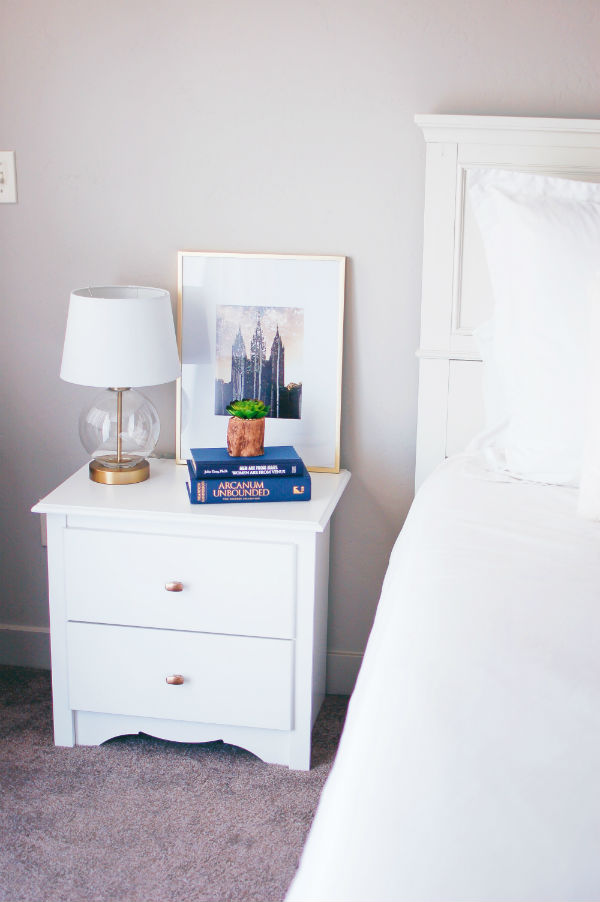 Master bedroom decor for the nightstand