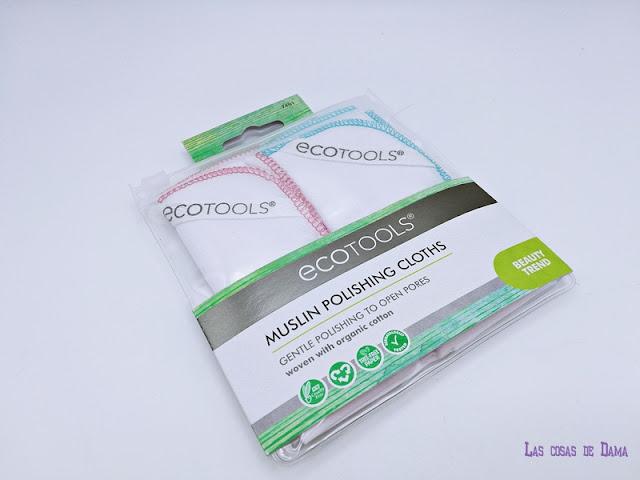 EcoTools Muslin Polishing Cloths iherb muselinas algodon desmaquillante limpiadora exfoliante belleza limpieza facial beauty
