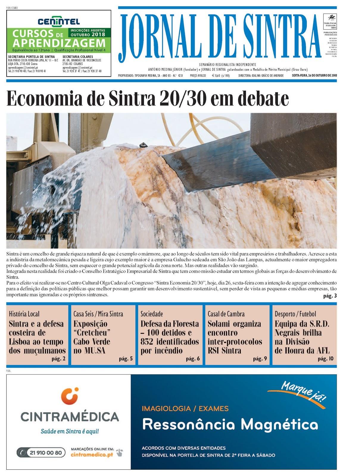 Capa da edição de 26-10-2018