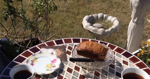 Barb's Pumpkin Bread with Chips and an Impromptu Tea