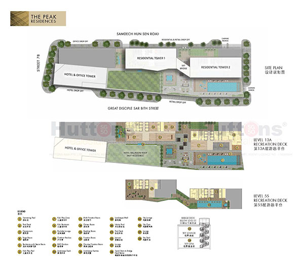 The Peak @ Cambodia Siteplan