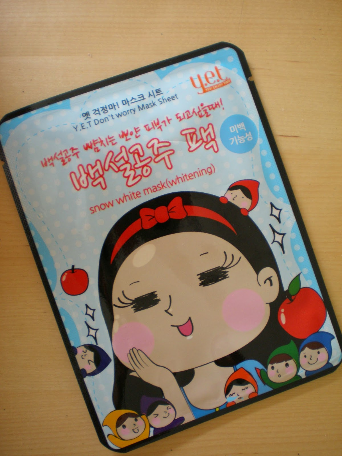 Y.E.T Don't Worry Mask Sheet in Snow White (Whitening)