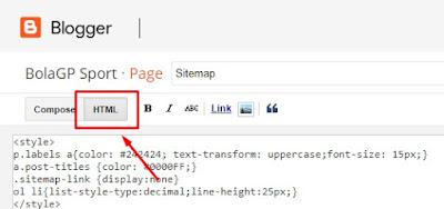 paste di mode HTML