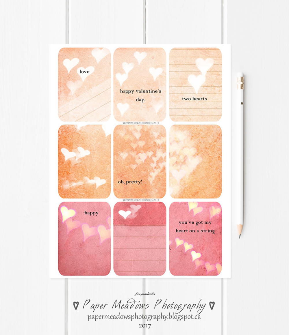 Paper Meadows Photography Blog Free Printable Planner Cards Quote Journal