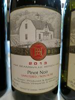 Hidden Bench Pinot Noir 2013 - Unfiltered, VQA Beamsville Bench, Niagara Peninsula, Ontario, Canada (90 pts)