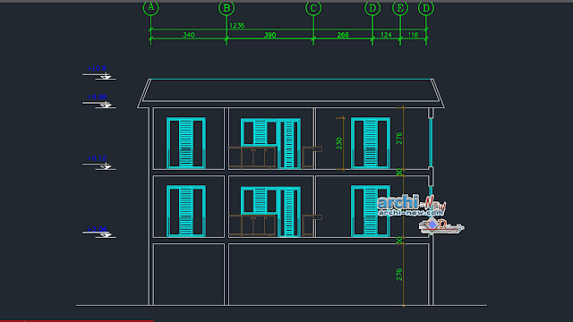 Duplex Residential Project in AutoCAD