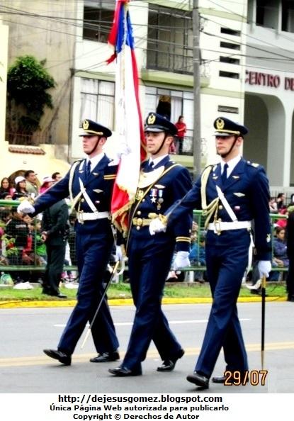 Foto de la Delegación Militar de Chile en Parada Militar de Perú. Foto tomada por Jesus Gómez