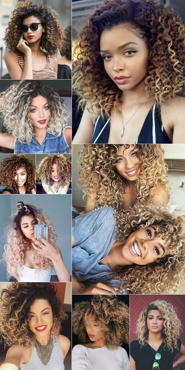 @ohlollas Cabelos Cacheados com luzes Coloridos e Descoloridos: ruivo, platinado, cores fantasia, mechas, luzes, ombré hair e californianas. Platinum, ginger and colored curly hair. Natural hair, cabelo natural 2017 2018