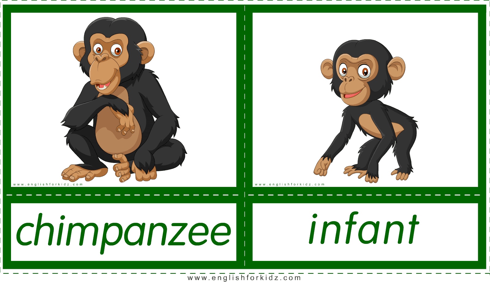 English For Kids Step By Step Printable Flashcards