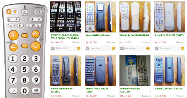 jual remote tv