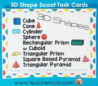 3D Shapes Card set