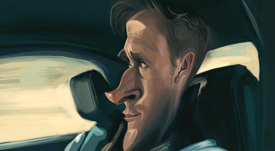 Ryan Gosling por Alberto Russo