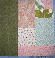 making a simple quilt pattern block