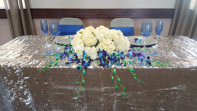 silver sequin headtable