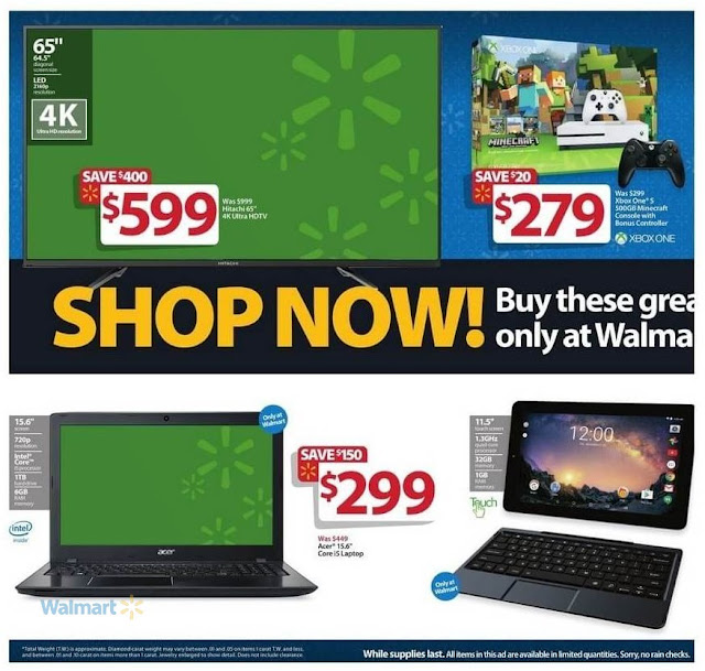 Black Friday Sale Walmart Acer Core i5 Laptop, Hitachi Ultra HDTV, Xbox One Controller