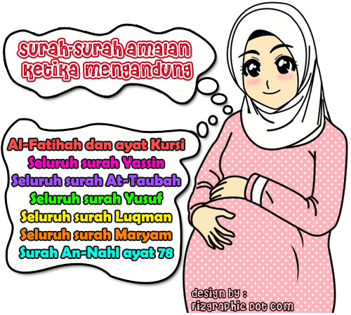 Gambar Kartun Wanita Hamil Muslimah Braderva Doceinfo