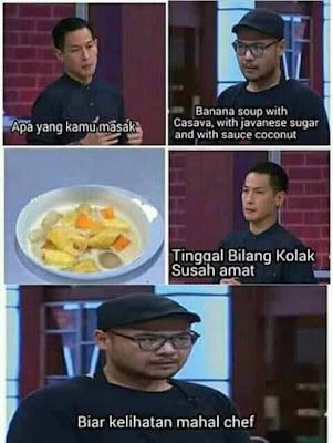 Meme MasterChef Indonesia 2019 - Makanan mahal Bahasa Inggris