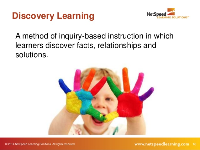 application of discovery learning method of Discovery learning is a method of inquiry-based instruction, discovery learning believes that it is best for learners to discover facts and relationships for themselves.