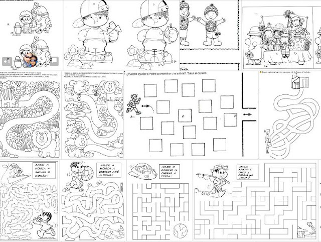 Preferenza Labirinti, differenze, memory, puzzle: 140 schede liberamente  LP42