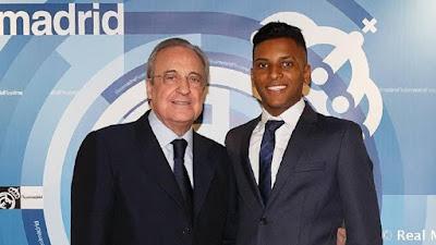 Rodrygo vio el Real Madrid-Melilla en el Bernabéu