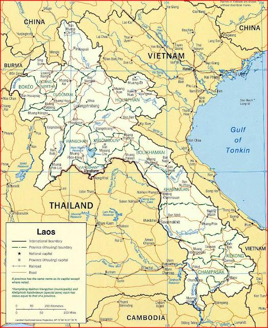 Gambar Peta politik Laos 2003