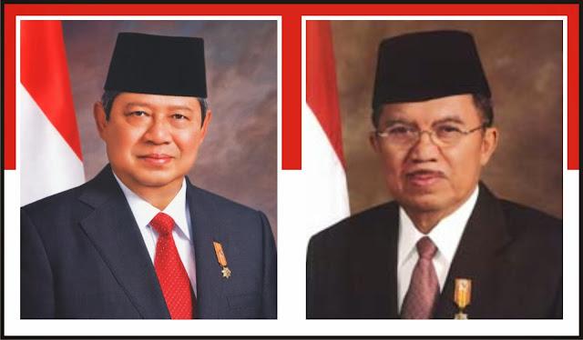 Gambar Presiden Susilo Bambang Yudhoyono dan Muhammad Jusuf Kalla