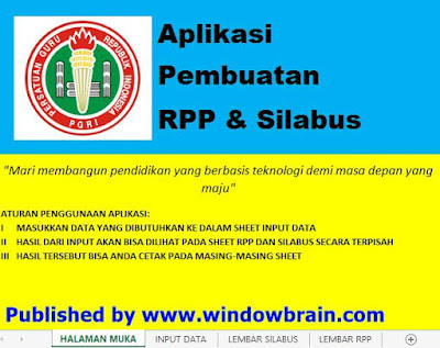 APLIKASI PEMBUATAN RPP FORMAT EXCEL UNTUK GURU SD,MI,SMP,MTS,SMA,MA,SMK.