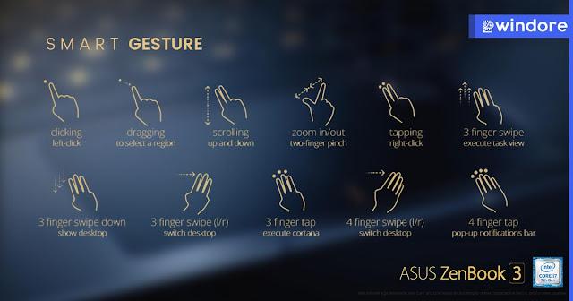 Asus Zenbook 3 Dengan Gesture Akurat dan Intuitive Touchpad