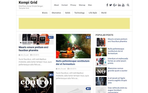 Free Blogger Template - Kompi Grid